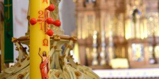 L'utilisation d'un cierge pascal